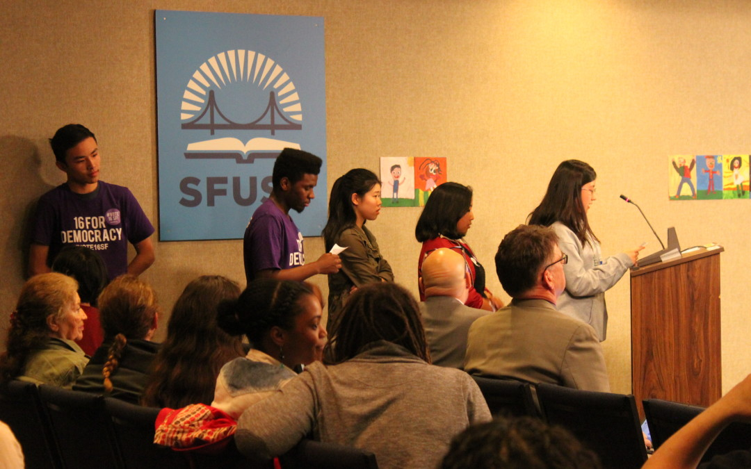 Photos and Video: Young People Speak Before the SF Board of Education