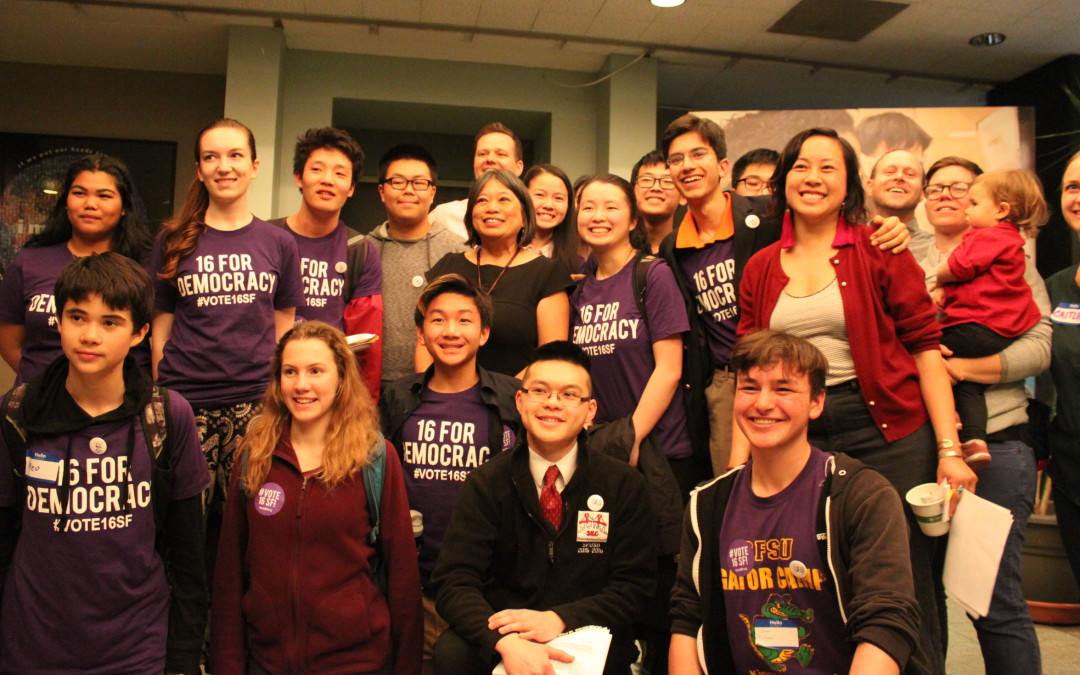100+ Youth Influence San Francisco Board of Education in Voting Age Decision