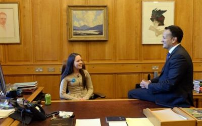 Irish teenager 'takes over' Taoiseach's office to mark World Children's Day