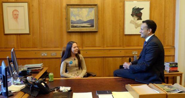 Irish teenager 'takes over' Taoiseach's office to mark World Children's Day