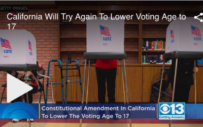 VIDEO: California Will Try Again To Lower Voting Age to 17